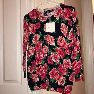 Ellen Tracy Floral Button Up